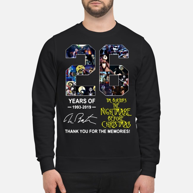 26 Years of Tim Burton's The Nightmare Before Christmas 1993-2019 signature Sweater