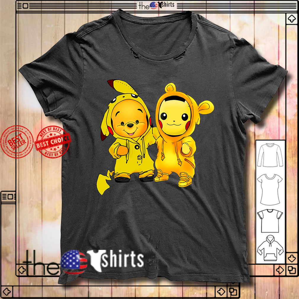 Baby Pooh and Pikachu shirt