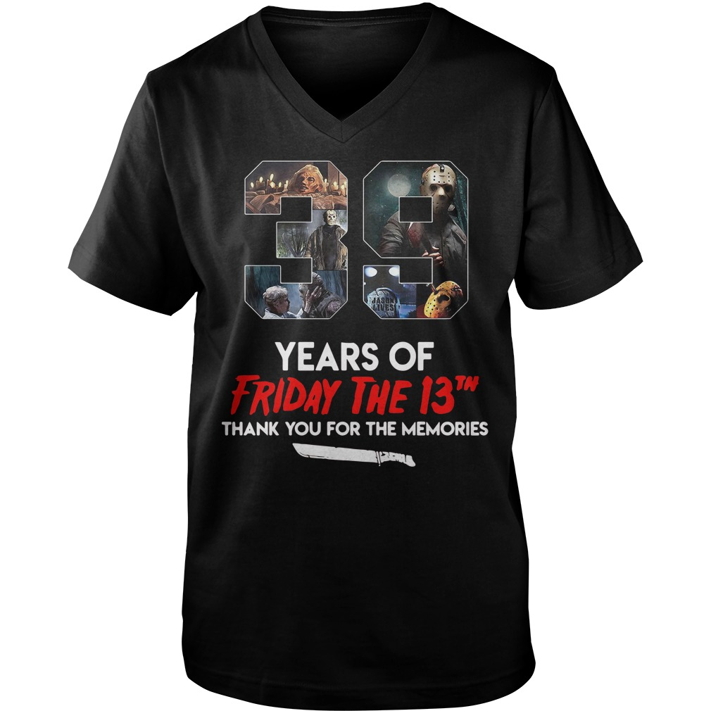 39 Years of Friday the 13th thank you for the memories shirt
