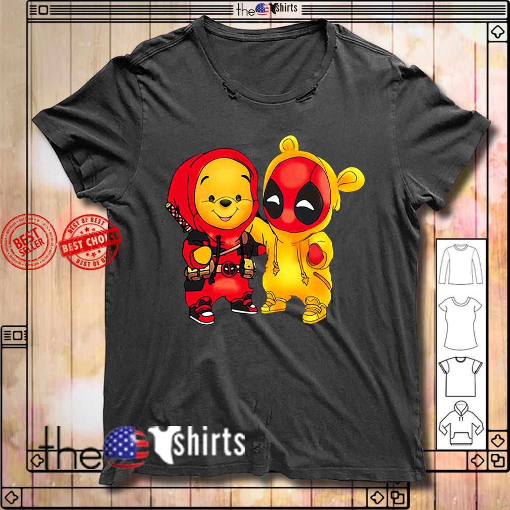 Baby Pooh and Deadpool shirt