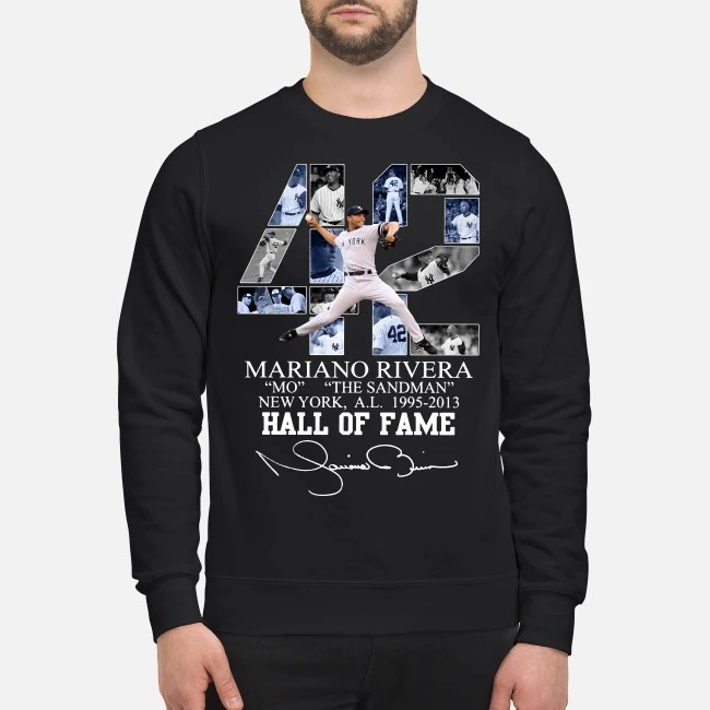 42 Mariano Rivera Mo the sandman New York 1995-2013 hall of fame Sweater
