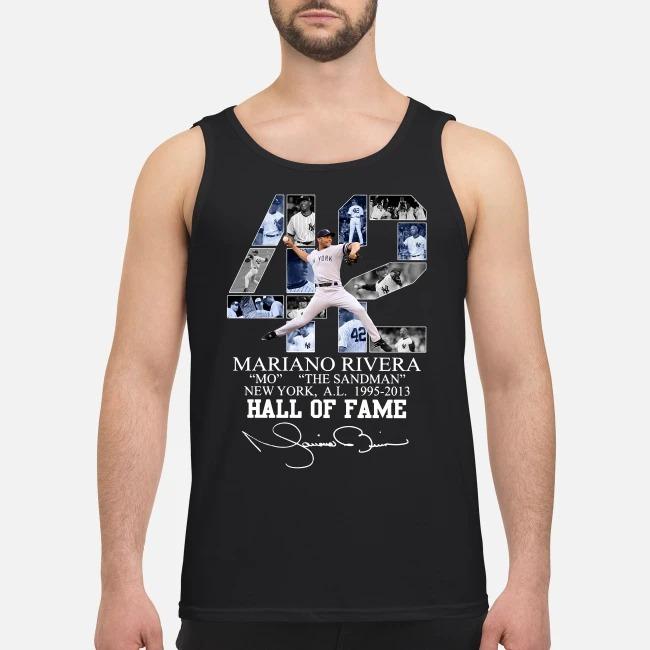 42 Mariano Rivera Mo the sandman New York 1995-2013 hall of fame Tank top