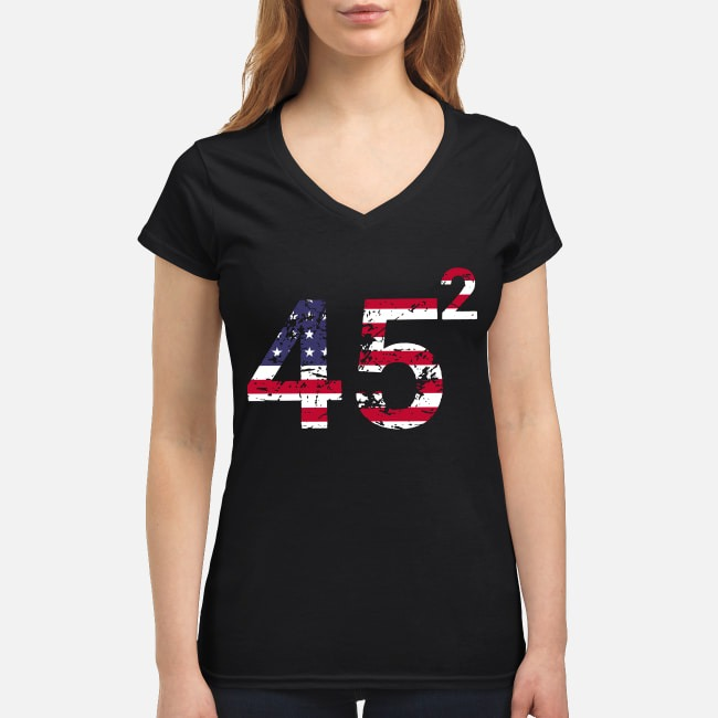 45 Square Trump 2 4th of July independence day V-neck T-shirt