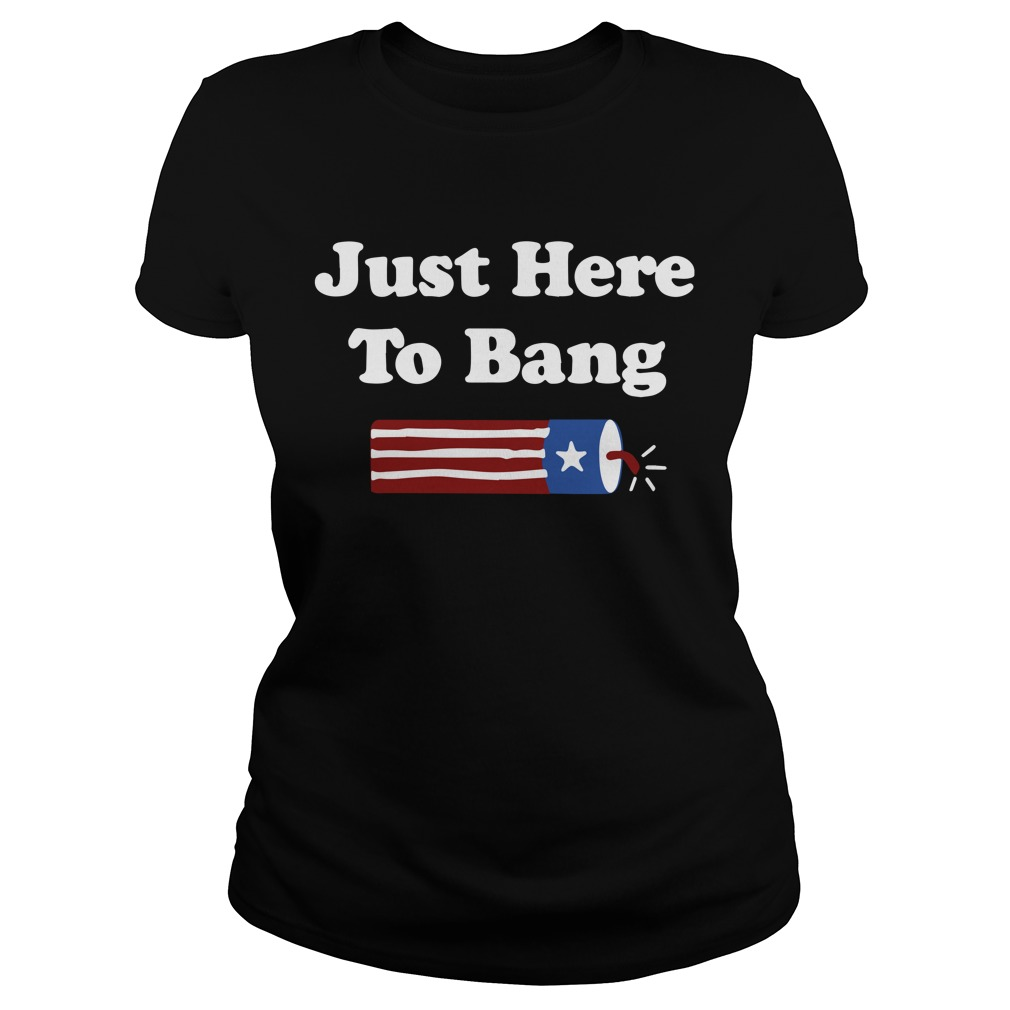4th Of July independence day just here to bang Ladies Tee