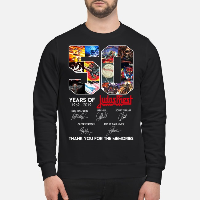 50 Years of Judas Priest 1969-2019 thank you for the memories Sweater