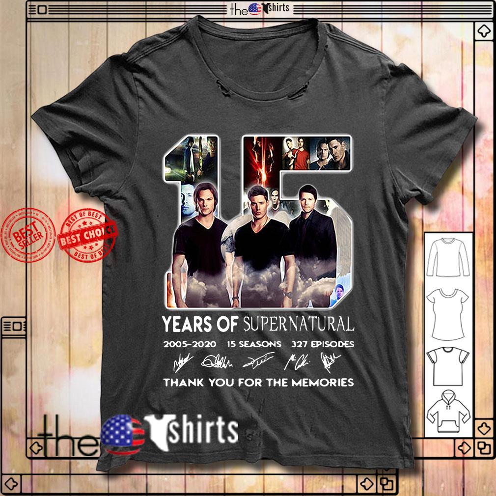 15 Years of Supernatural 2005-2020 15 seasons 327 episodes signature shirt