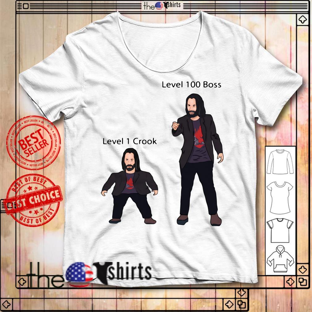 Mini Keanu Reeves Vs Level 100 Boss Keanu shirt