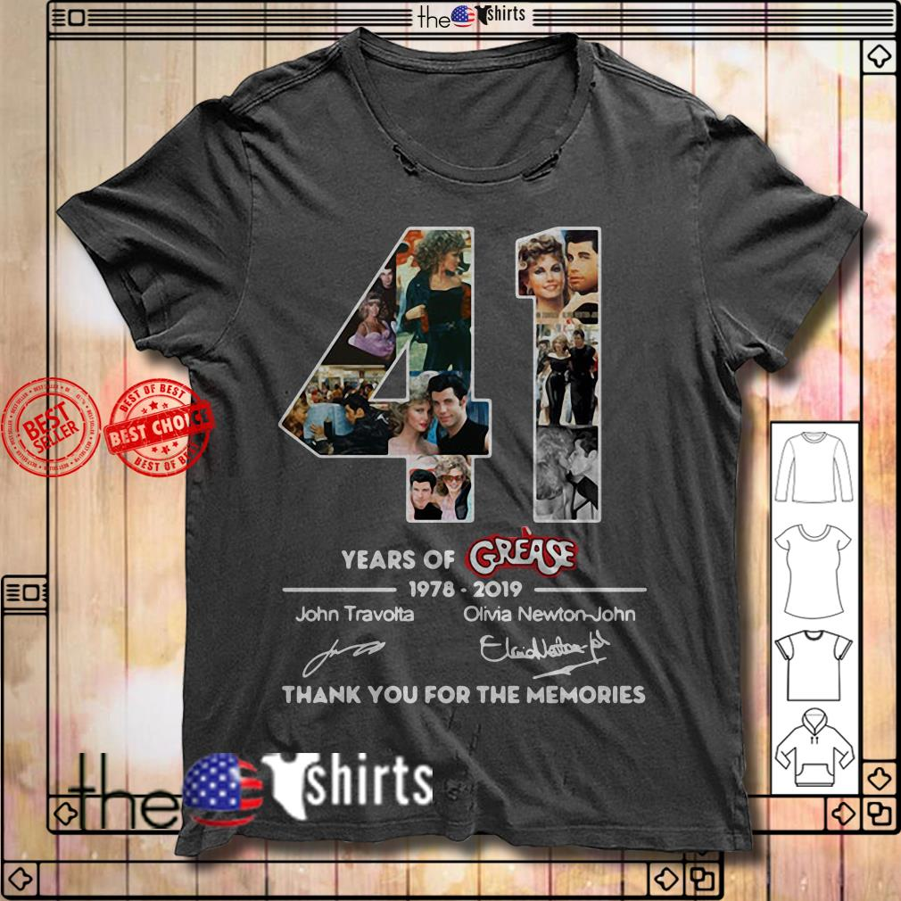 Thank you for the memories 41 Years of Grease 1978-2019 shirt