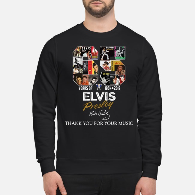 65 Years of Elvis Presley 1954-2019 thank you for your music Sweater