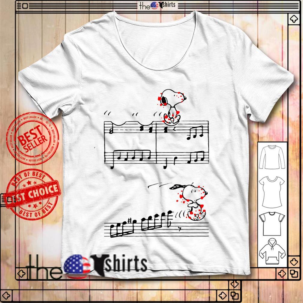 Snoopy music piano shirt