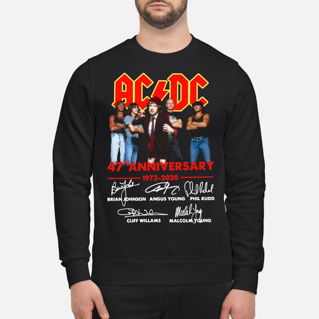 AC/DC 47th anniversary 1973-2020 signatures Sweater