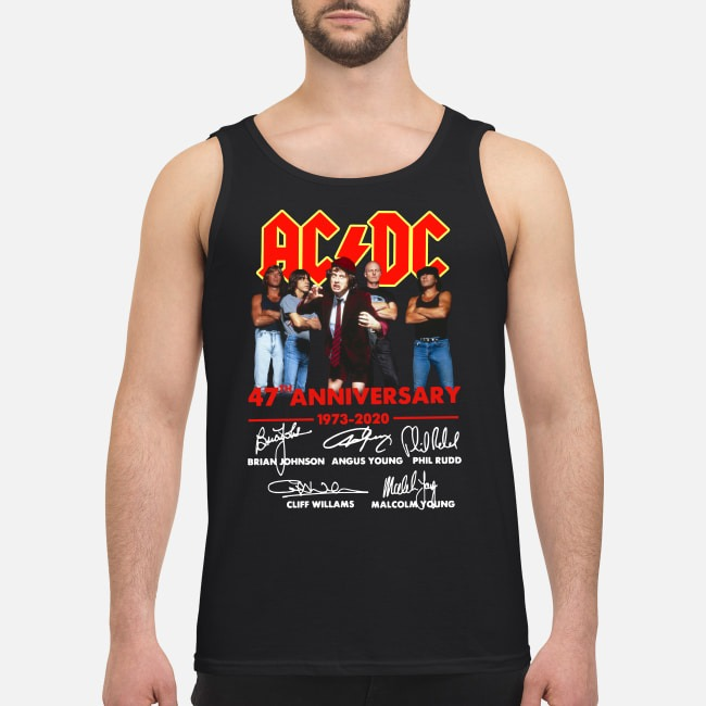 AC/DC 47th anniversary 1973-2020 signatures Tank top