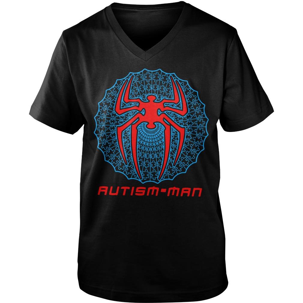 Autism-man Spider-Man Guy V-Neck
