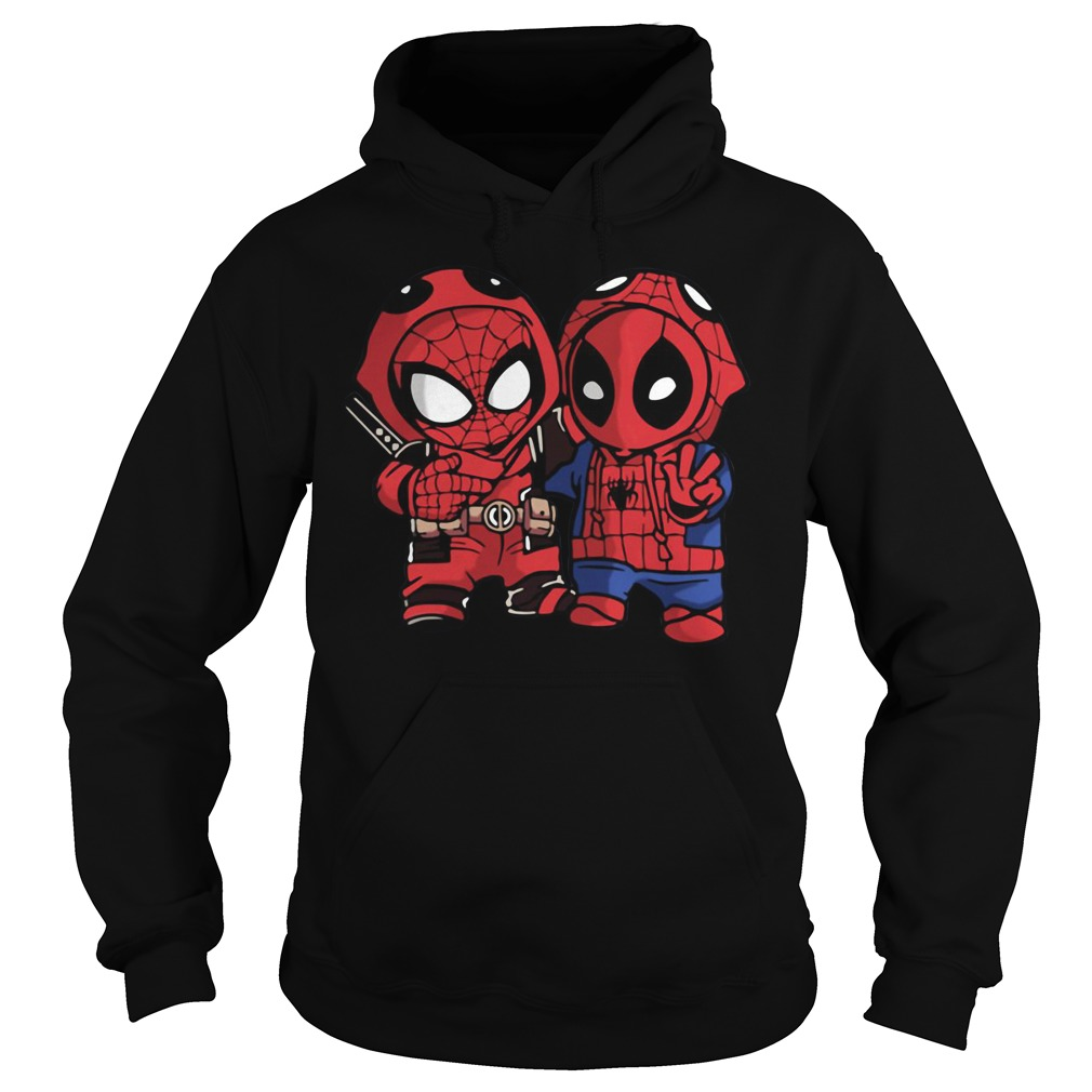 Baby Deadpool and Spider-Man Hoodie