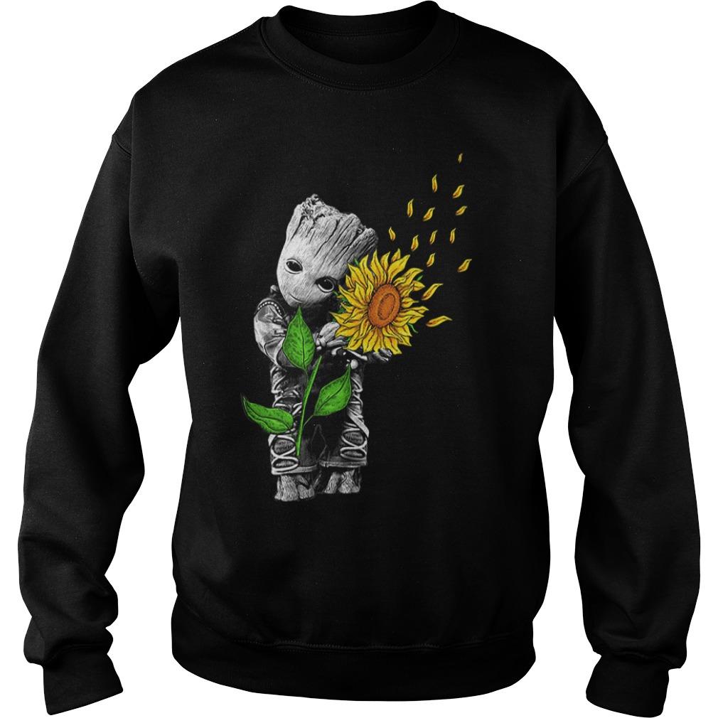 Baby Groot hug sunflower Sweater