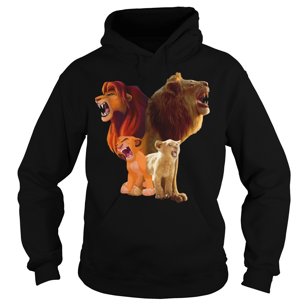 Baby Lion and adut lion The Lion King 2019 Hoodie