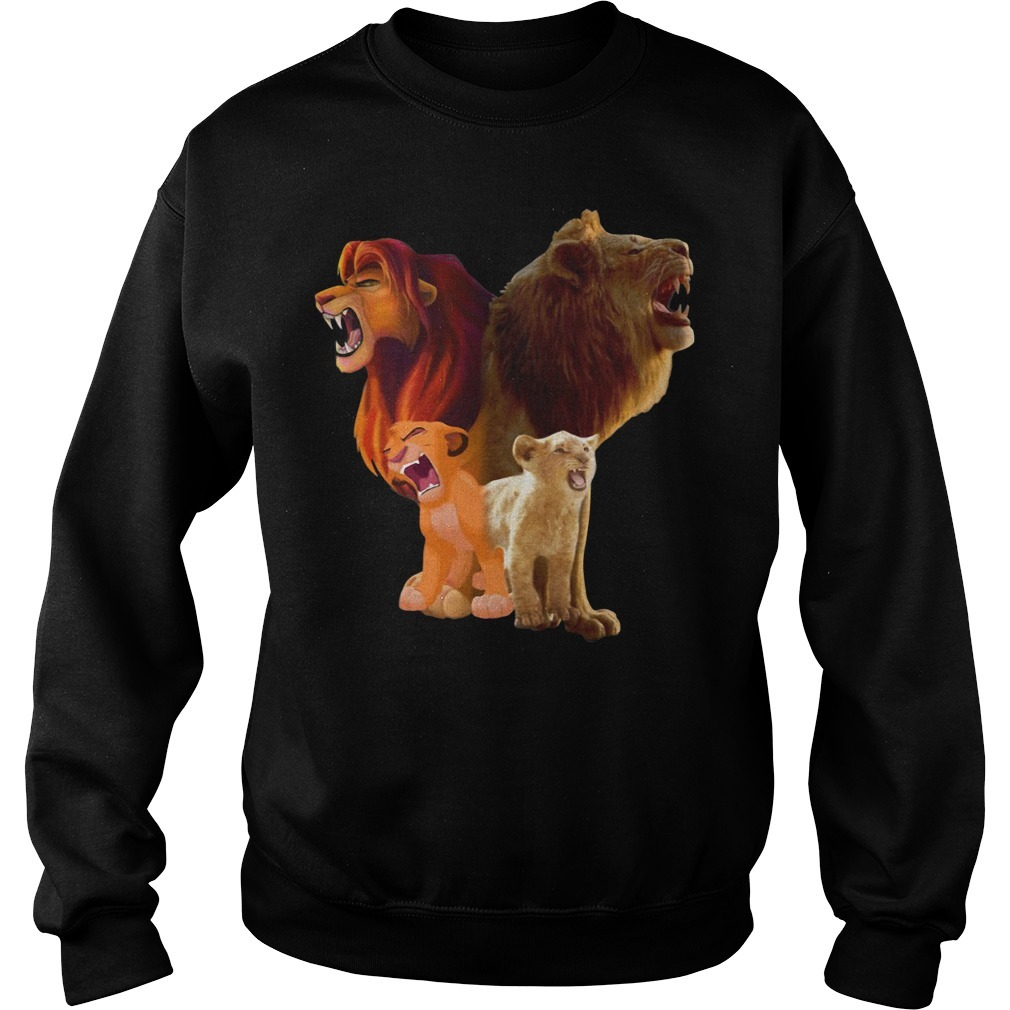 Baby Lion and adut lion The Lion King 2019 Sweater