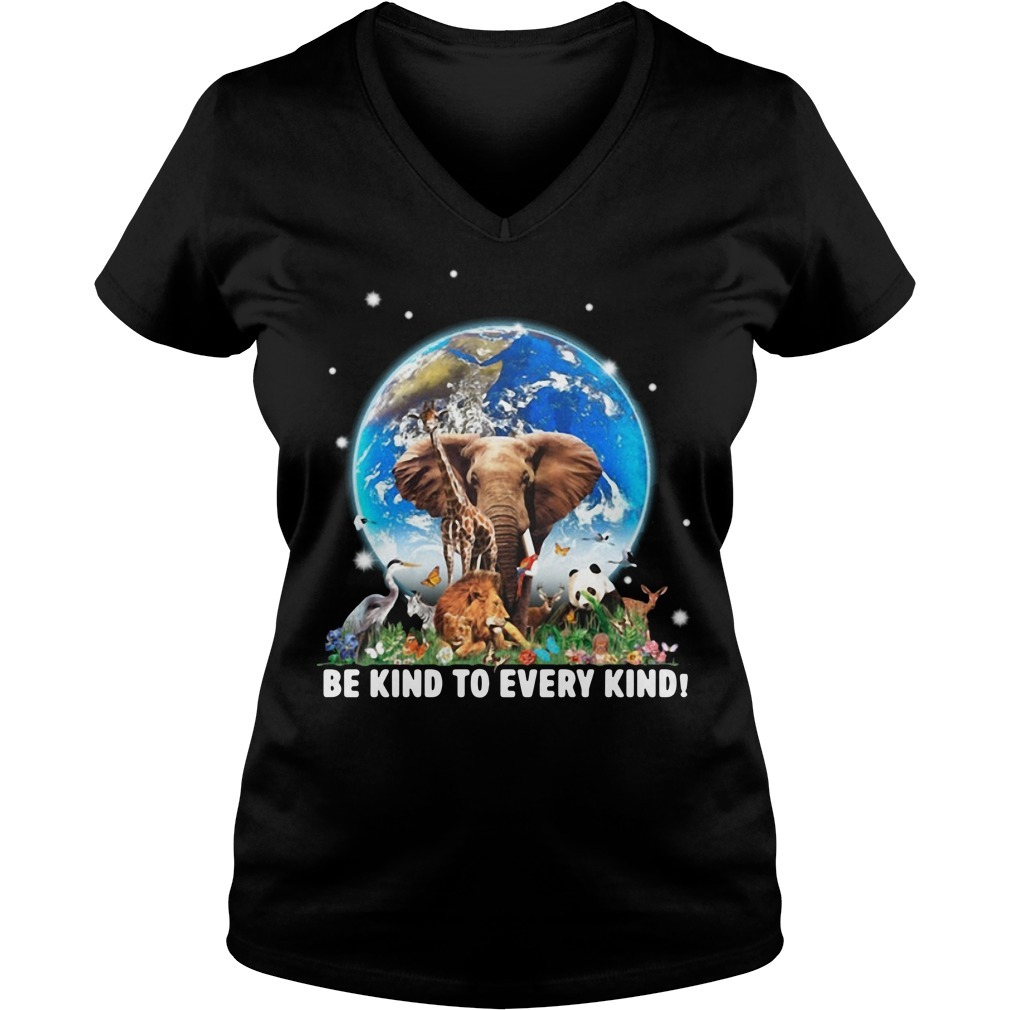 Be kind to every kind Animal V-neck T-shirt