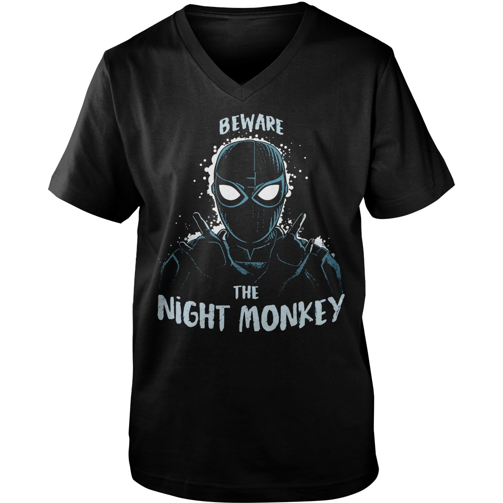 Beware the night monkey far from home shirt