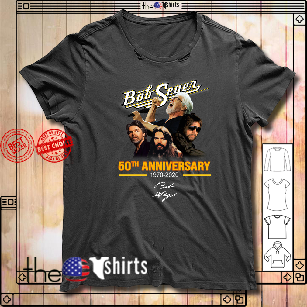 Bob Seger 50th anniversary 1979-2020 shirt