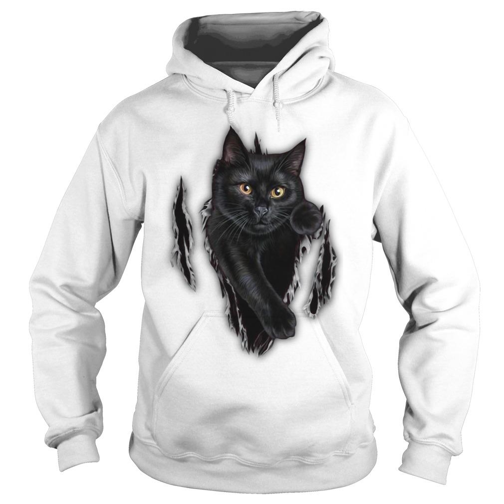 Cat scratch cat inside me Hoodie