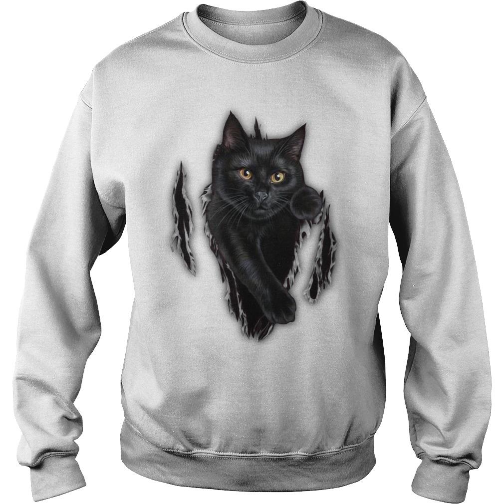 Cat scratch cat inside me Sweater