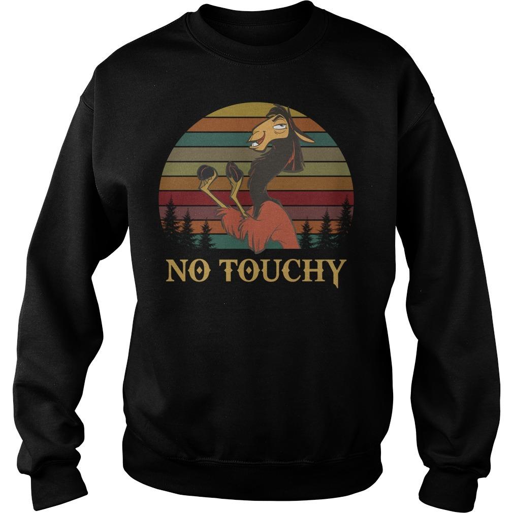Disney Emperor's New Groove Kuzco Llama no touchy sunset Sweater