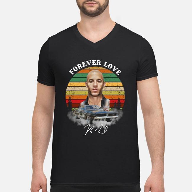 Dominic Toretto forever love sunset V-neck T-shirt