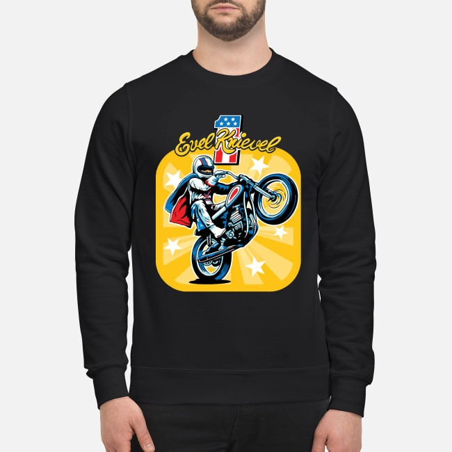 Evel Knievel Motorcycles Sweater