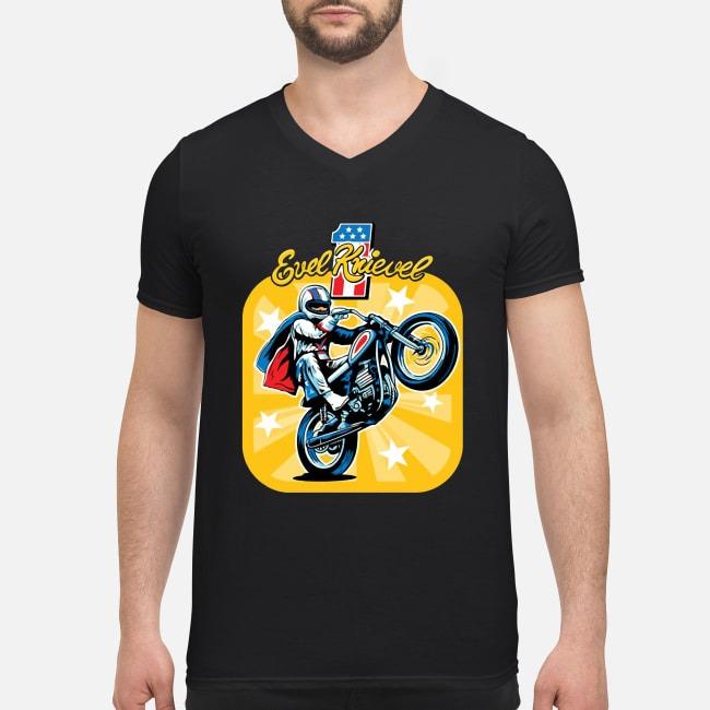 Evel Knievel Motorcycles V-neck T-shirt