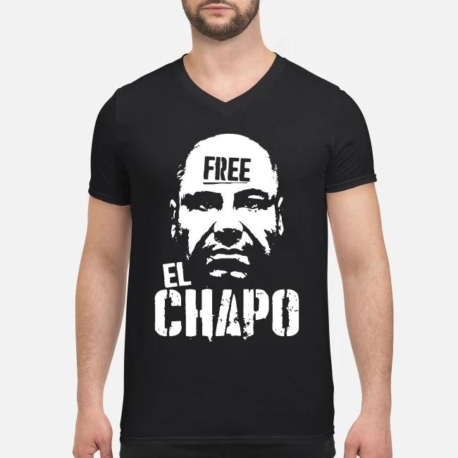 Free El Chapo V-neck T-shirt