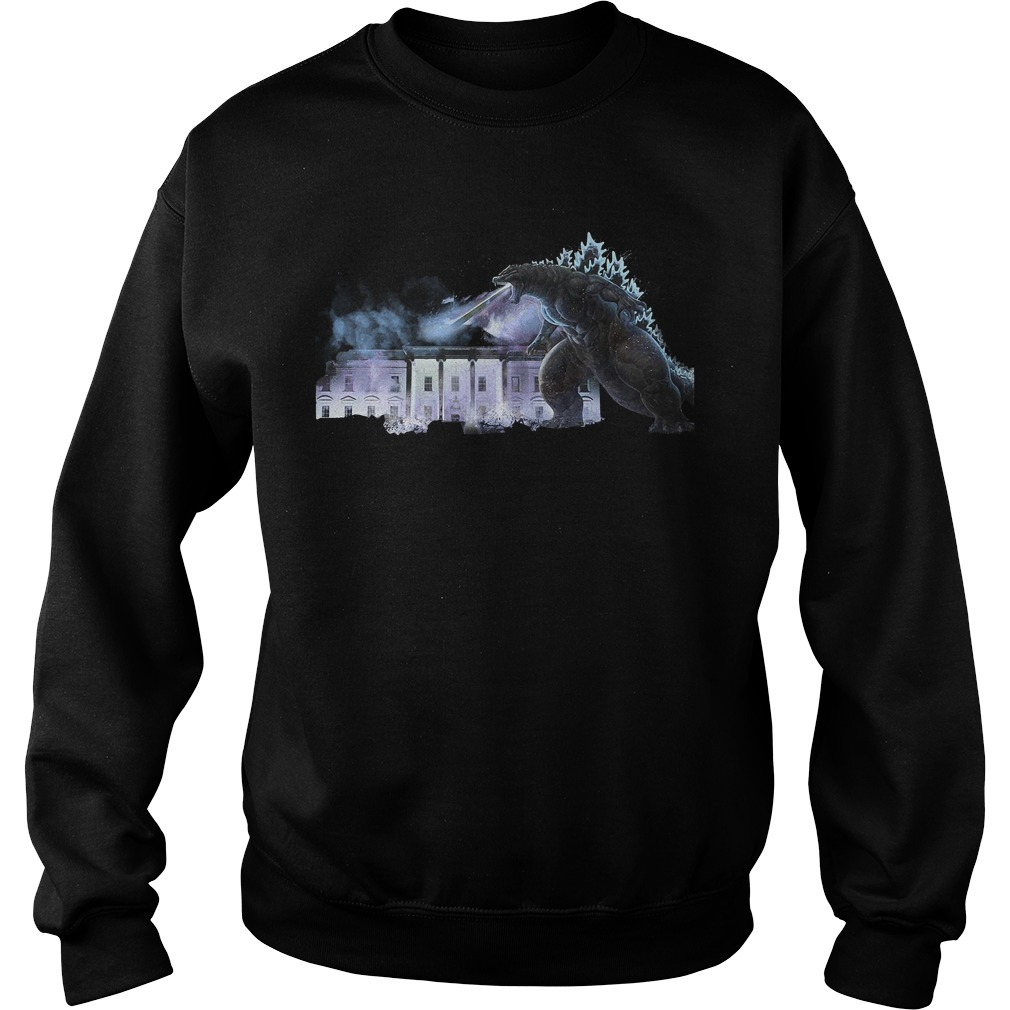 Godzilla atomic breath The White House King of the Monsters Sweater