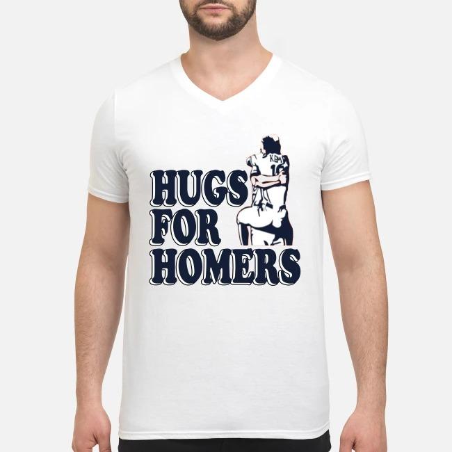 Houston Astros hugs for homers V-neck T-shirt