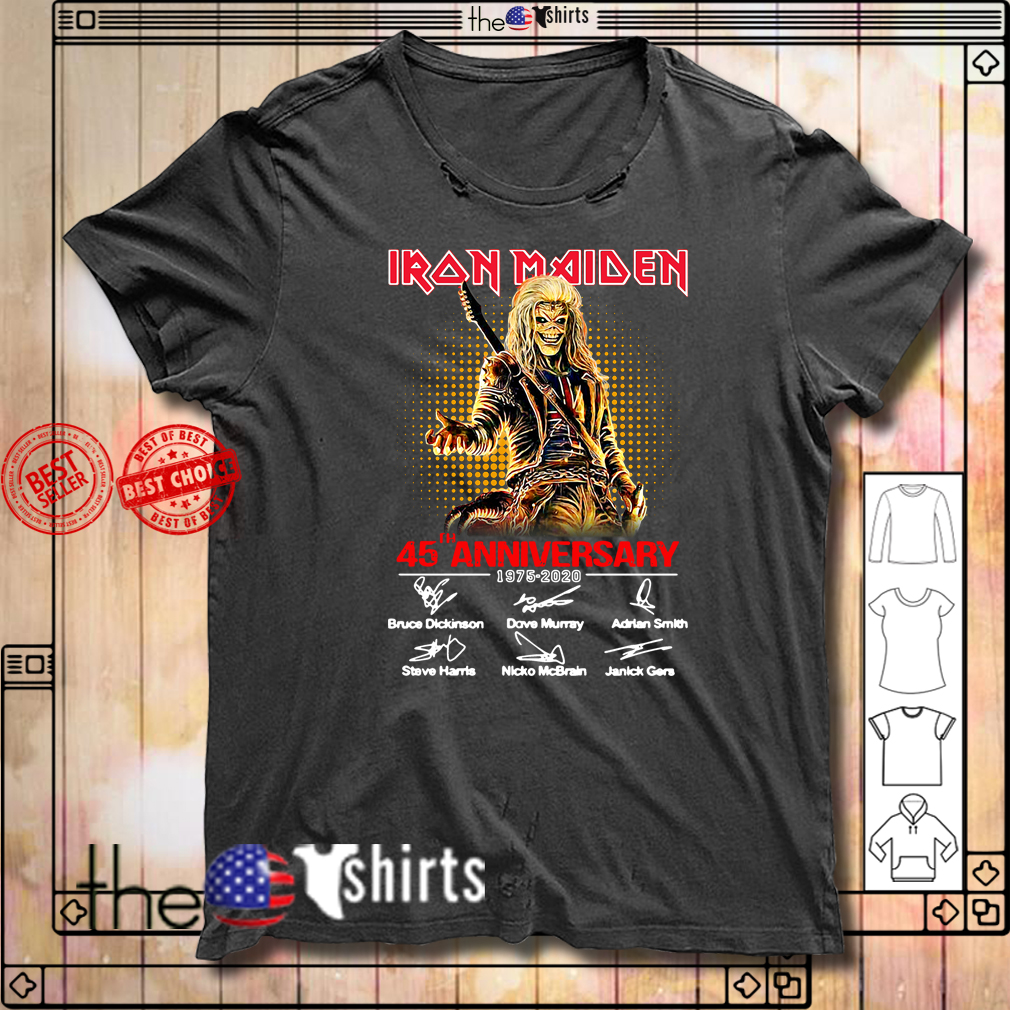 Iron Maiden 45th Anniversary 1975-2020 signatures shirt