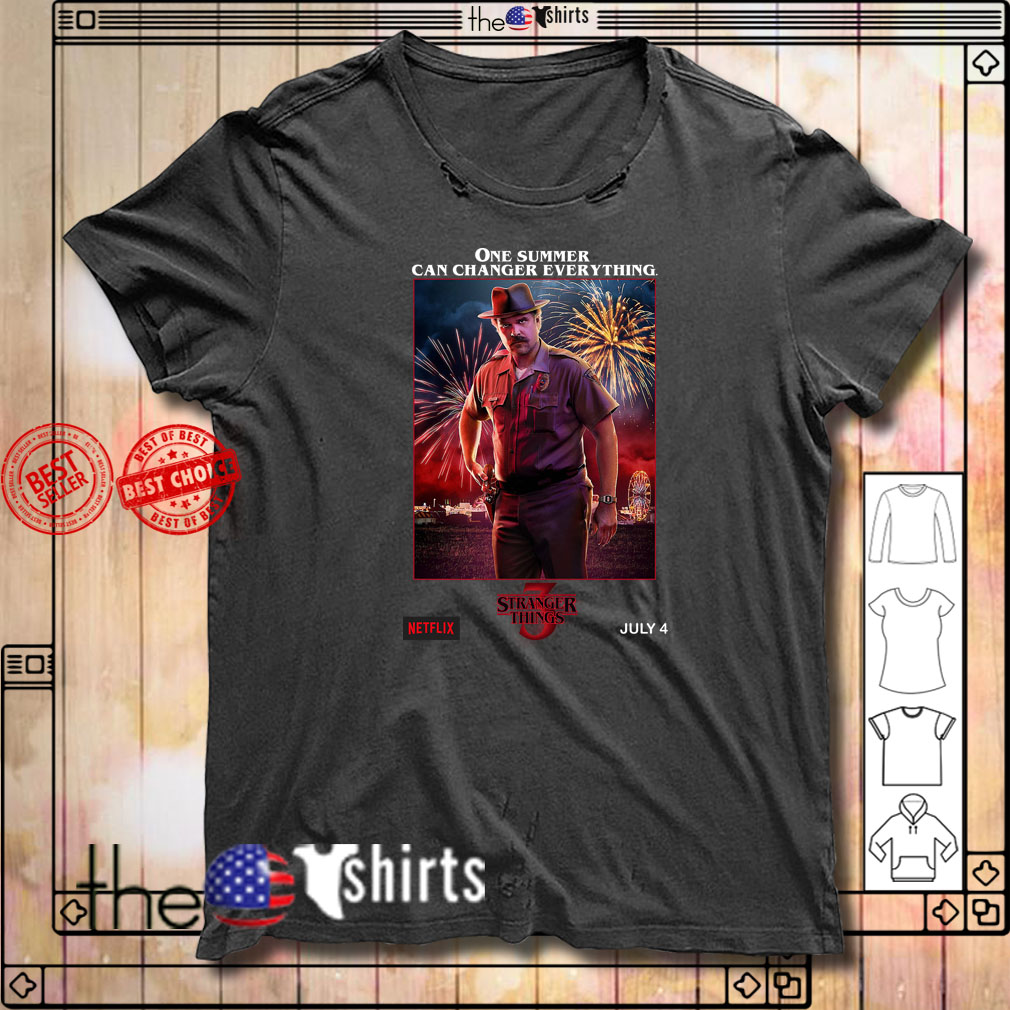 Jim Hopper one summer can change everything Stranger Things 3 shirt