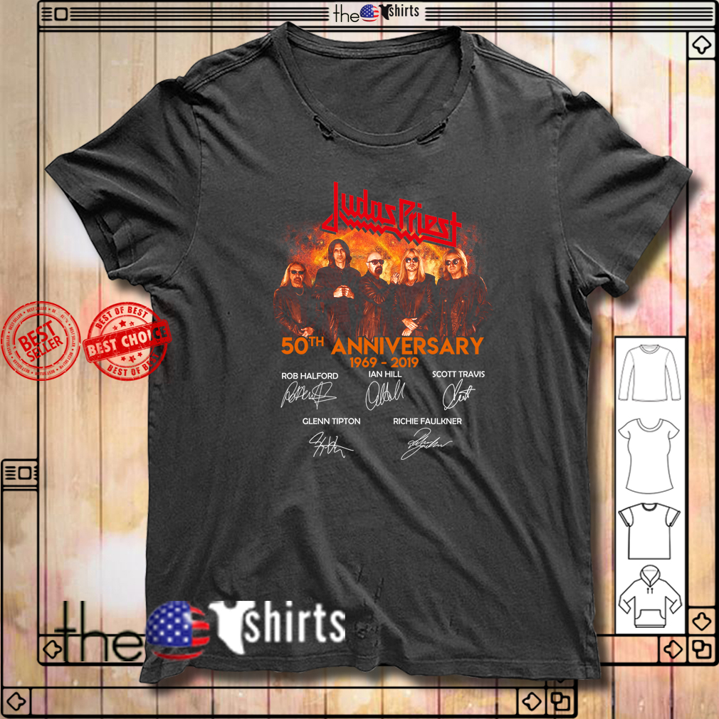 Judas Priest 50th Anniversary 1969-2019 signature shirt