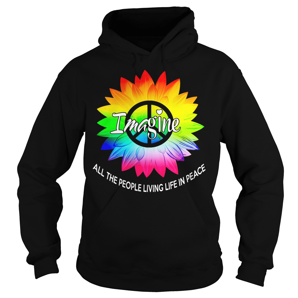 LGBT Sunflower imagine all the people living life in peace shirt