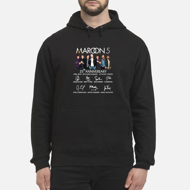 Maroon 5 25th anniversary 1994-2019 9 studio albums 22 music videos Hoodie