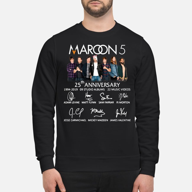 Maroon 5 25th anniversary 1994-2019 9 studio albums 22 music videos Sweater