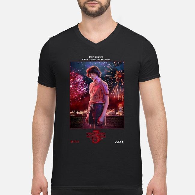 Mike Wheeler one summer can change everything Stranger Things season 3 V-neck T-shirt