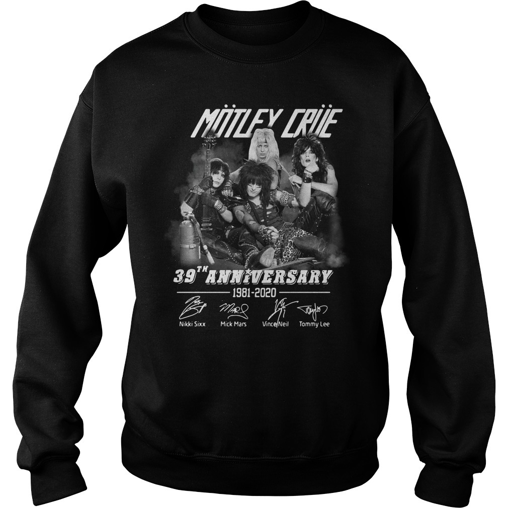 Motley Crue 39th anniversary 1981-2020 signature Sweater