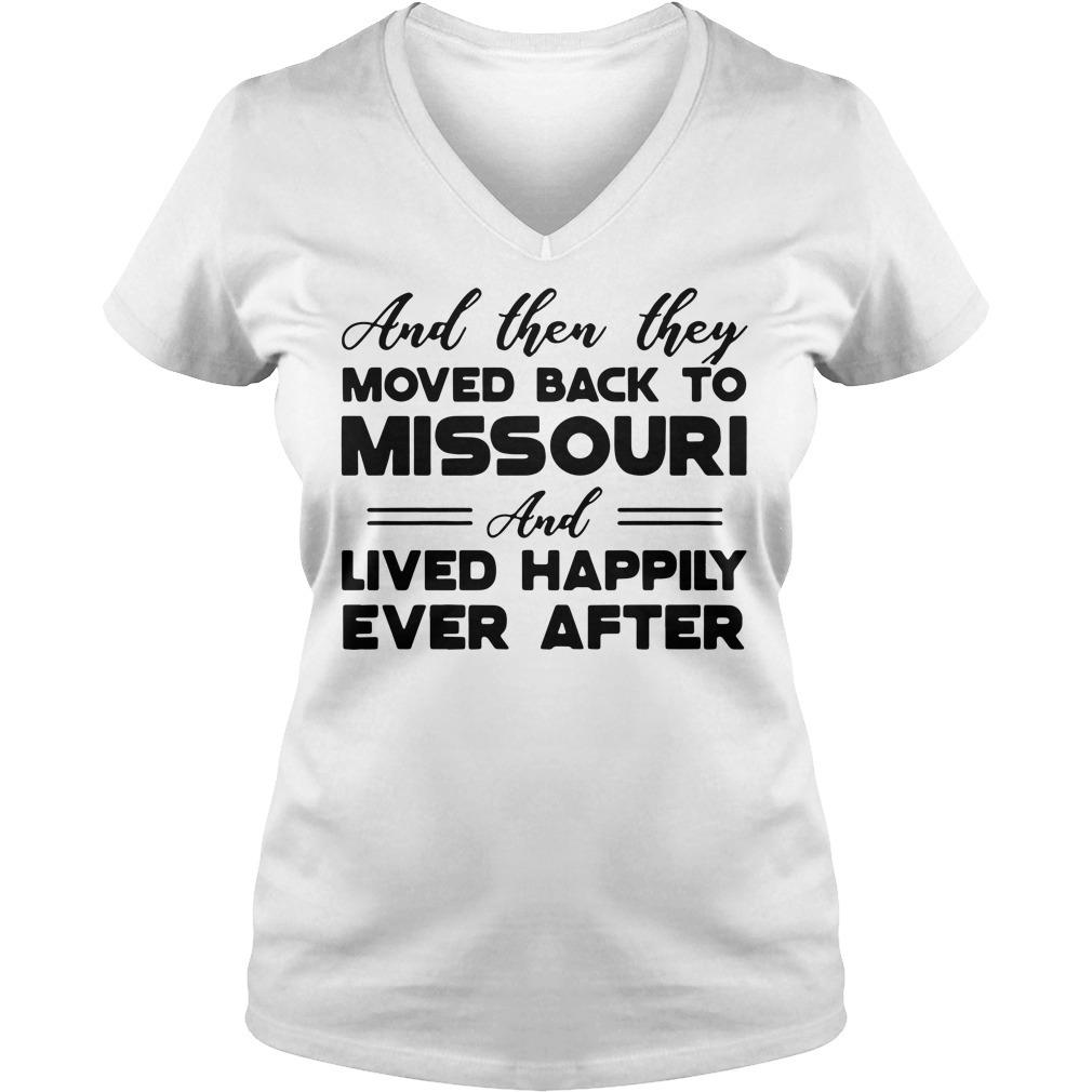 Moved back to Missouri V-neck T-shirt