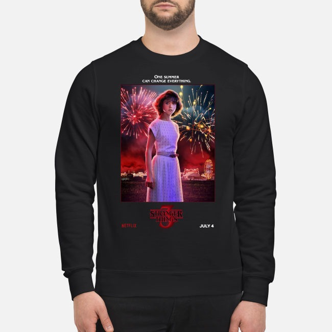 Nancy Wheeler one summer can change everything Stranger Things season 3 Sweater