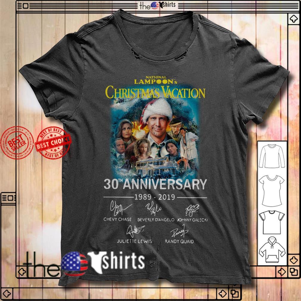 National Lampoon's Christmas vacation 30th Anniversary 1989-2019 signature shirt