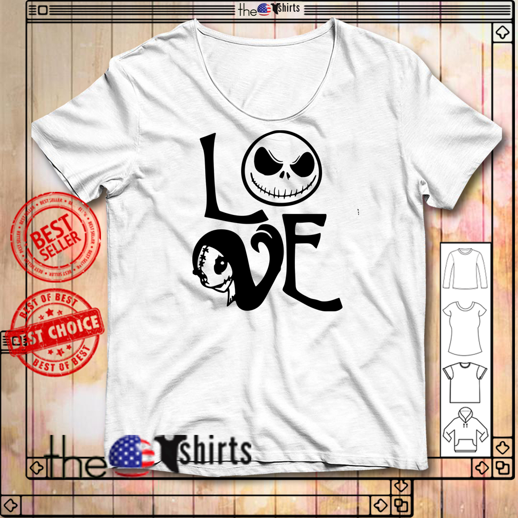 Nightmare Before Christmas Jack and Sally love shirt