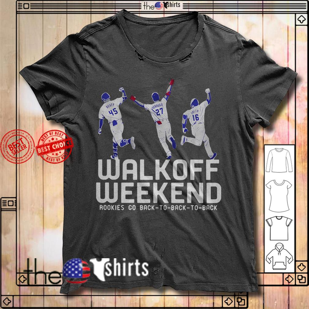 Official rookies go back to back to back walk off weekend shirt