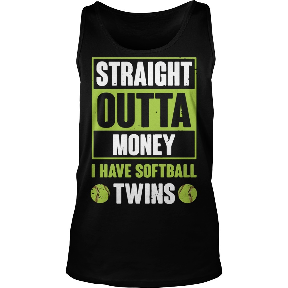 Official straight outta money I have softball twins Tank top