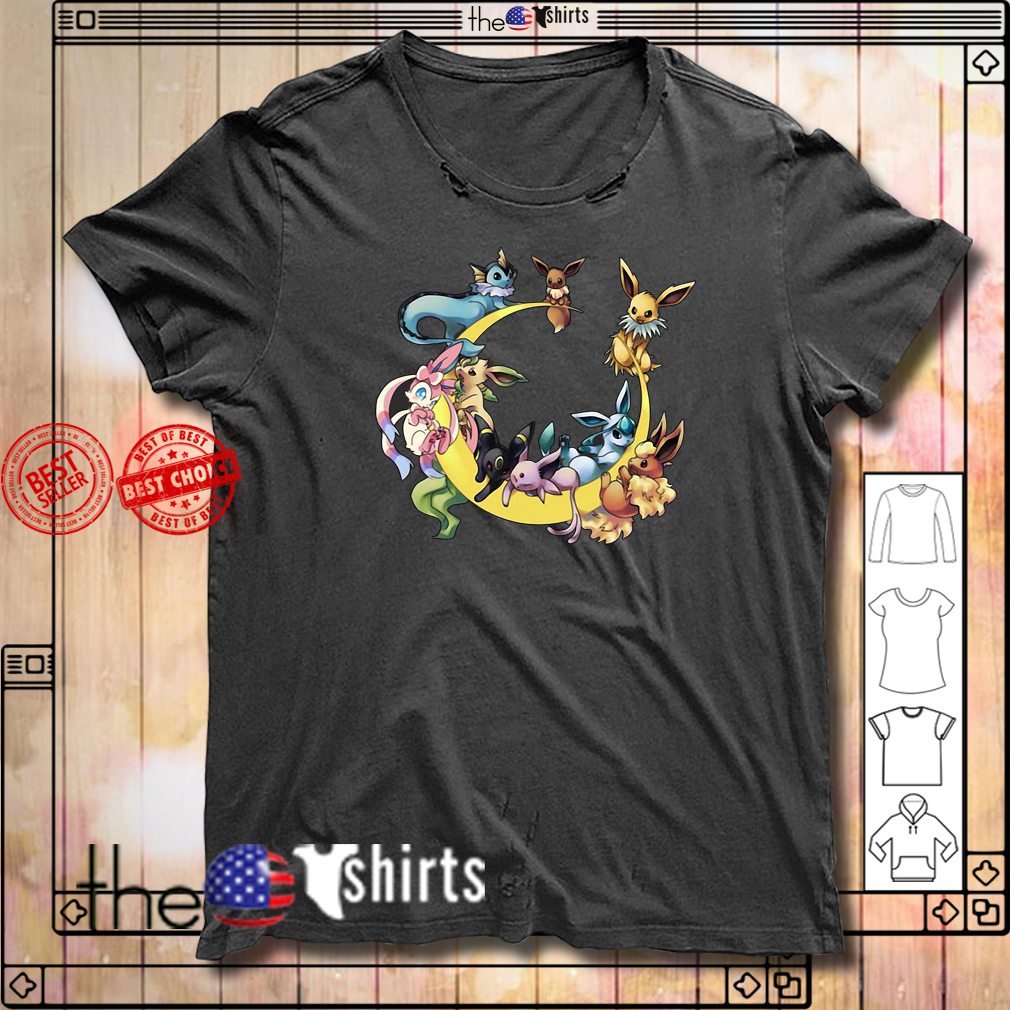 Pokemon eevee evolution moon shirt