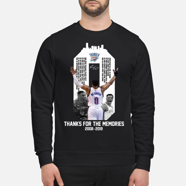 Russell Westbrook OKC Thunder thank for the memories 2008-2019 Sweater