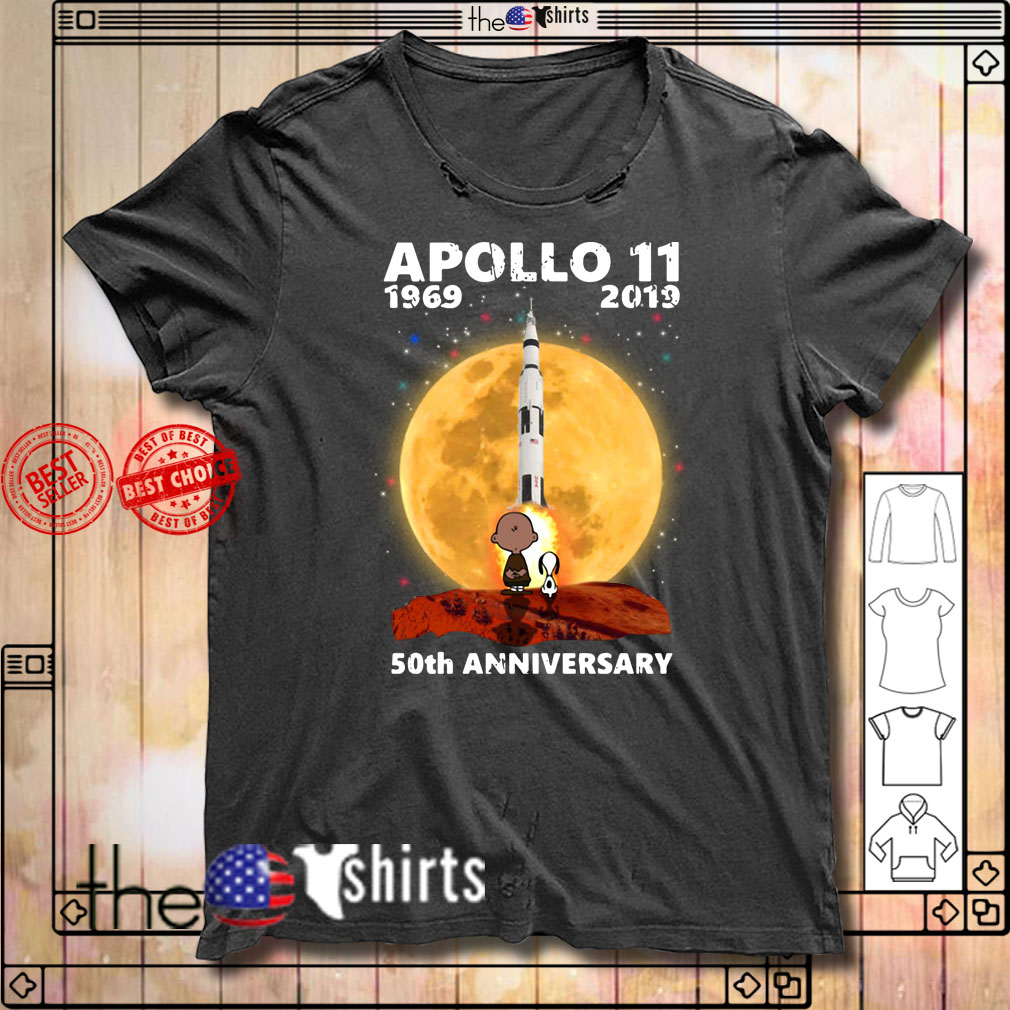 Snoopy and Charlie Brown Apollo 11 50th anniversary shirt